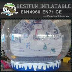 Clear PVC inflatable snow globe