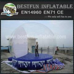 Giant Inflatable Snow Ball for car show
