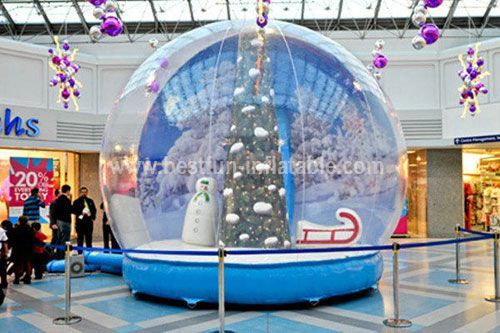 Inflatable Snow Globe with LED light