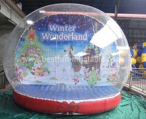 Wholesale advertising giant inflatable snow globe