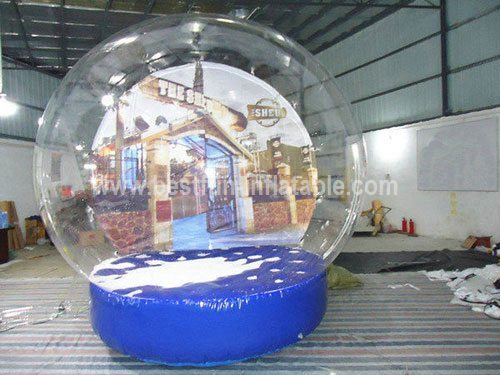 Customized inflatable snow globe