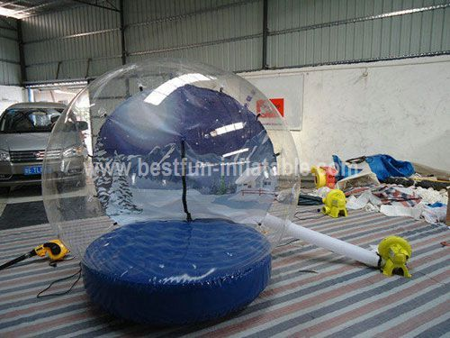 Inflatable snow globe for events