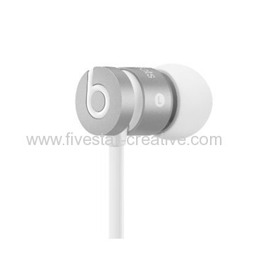 Beats by Dre urBeats Earphones With Multiple Ear Tips Monochromatic Silver