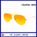 Various Colored Metal Mens Mirrored Aviator Sunglasses with Plastic Cover