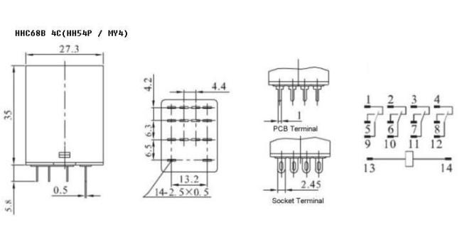 General-purpose Relay My4 Hh54p Products
