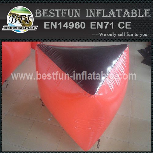 Inflatable bunker for paintball
