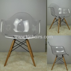 wooden legs emaes PC plastic dining chair