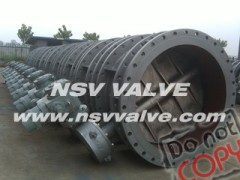 Triple offset butterfly valve with flange end