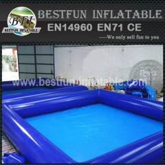 Inflatable family size pools