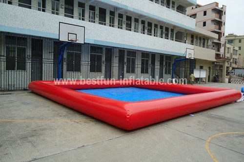 Inflatable square baby swimming pool