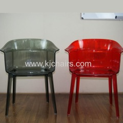 high quality PC armrest dining chair
