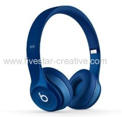 2014 Newest Beats by Dre Foldable Solo 2.0 On-Ear Headphones blue