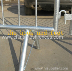 crowd control barrier Combi-Safe Steel safety barrier Construction site safety interlocking barriers