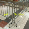 Removable leg safety road barrier with 38mm OD