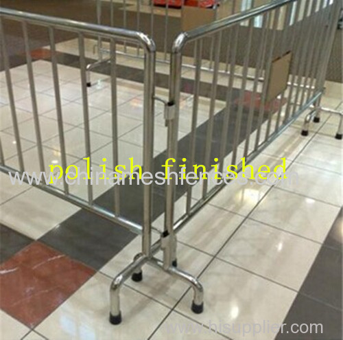 removable leg safety road barrier;42mm OD road barrier;fixed leg traffic barrier