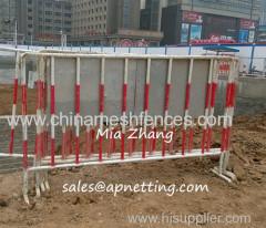 Строительная площадка гарантией 1100мм высота подвижный баррикада забор