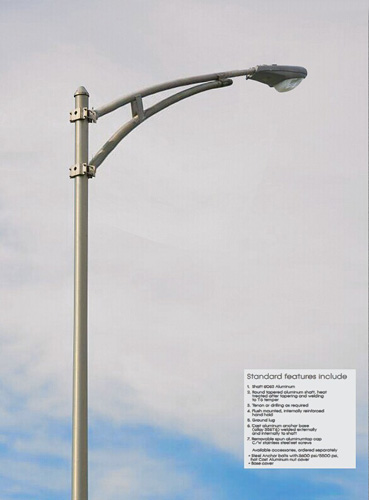 Aluminum Alloy Street Light Pole From China Manufacturer