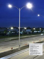 aluminum street pole tapered