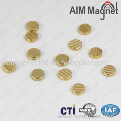 Gold Coating Neodymium Disc Magnet for Jewelry N50