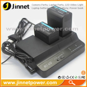 2014 new product BC-U2 dual charger for Sony BP-U30/U60/U90 battery full charge in short time