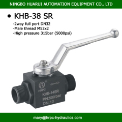 BKH-38SR DIN 2353 SR male thread 2 way high pressure DN32 PN4568 psi ball valves