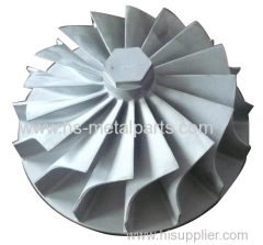 OEM impeller precision turbine wheel steam turbo impeller wheel parts