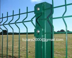Plastic-coating Welded mesh bending fence