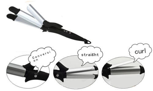 2014 new hot sell hair styling tools/2 in1Hair straightener & hair curler iron