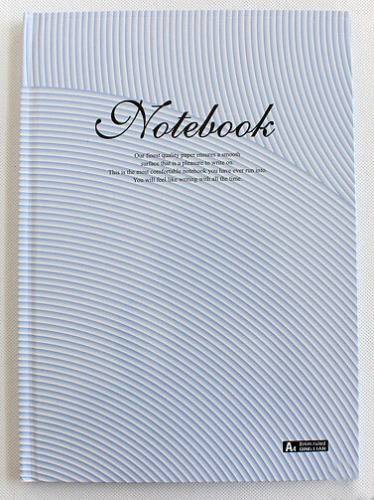 A4 Trendy Stripe Hardback Composition Book/Diary With Ruled