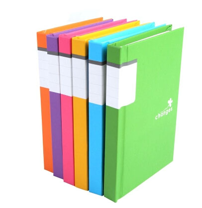 80-Sheet Colorful Ruled Hardback Journal/Diary