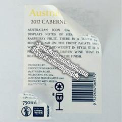 Custom Wine Information Labels