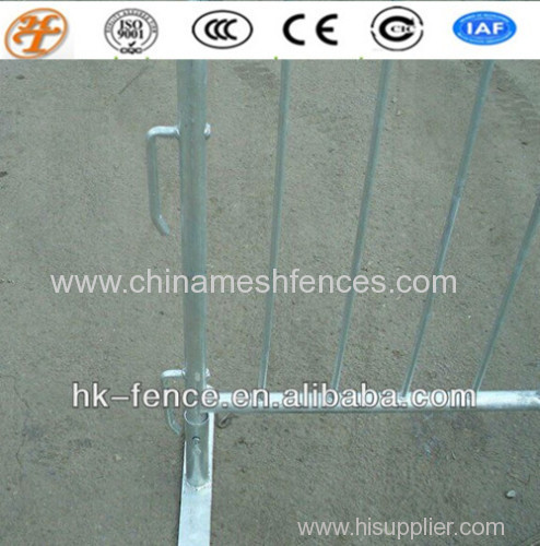 fully galvanized event control barrier;round pipe crash control barricade