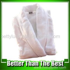 Cotton Terry White Bathrobe For Hotel Use