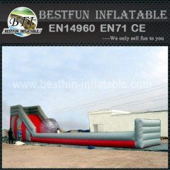 Inflatable zorb tracks Slide