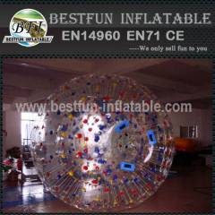 Inflatable color roller water strip ball