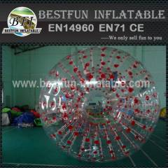 Grass inflatable growing zorb ball