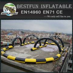 Inflatable race track for zorb ball