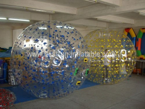 Inflatable snow globe rolling zorb ball