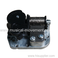 MUSICAL POLY CAROUSEL HAND WOUND SPRING MECHANISM