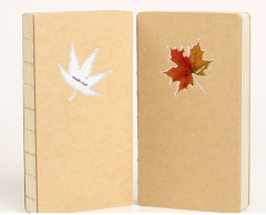 Glitter Maple Hard Cover Drawing Book With Both Kraft And Free Paper Inner
