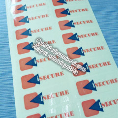 clear secure adhesive stickers