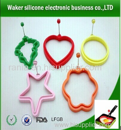 wholesale fashion silicone egg rings / heart shape egg rings/ star shape egg rings