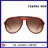 Custom Aviator Sunglasses Brand Name Popular Red Acetate Sunglasses