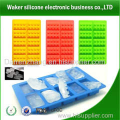 best-selling Colorful Blocks Shape Silicone Ice Cube Tray