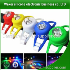 super bright mini silicone led bicycle light low power cycle light