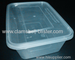 Disposable plastic clear food boxes