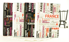 France/Paris Themed Blank Journal/Diary With Bookmark