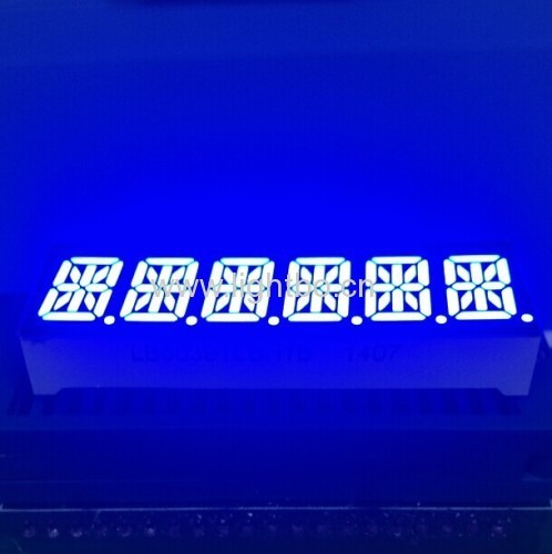 Custom 6 Digit 10mm 14 segment led display for instrument panel