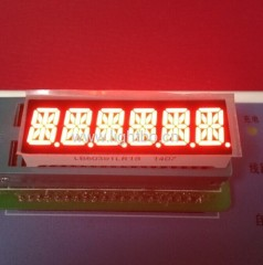 Custom 6 Digit 10mm 14-segment LED-display voor instrumentenpaneel