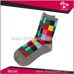 Check Multi Color Socks for Unisex